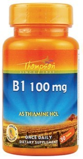 Vitamina B1 100mg 30 Comp Thompson